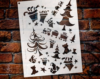 Christmas Morning Stencil - Choose Your Size - SKU:STCL129