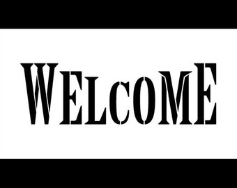 """Word Stencil - Welcome - Edition Marquee - 11"""" X 6"""" - SKU:STCL596"""