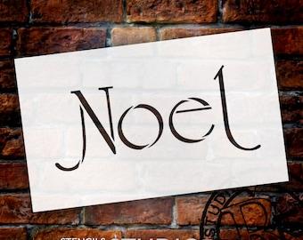 Noel - Elegant Deco - Word Art Stencil - Select Size - STCL1390 - by StudioR12