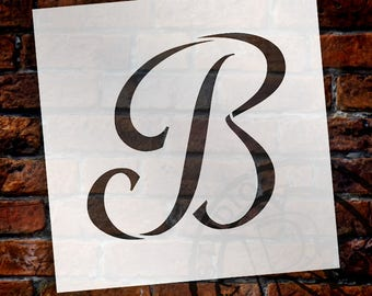 B -Graceful Monogram Stencil - Select Size - STCL1902 - by StudioR12