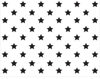 """50 Star Stencil 21"""" X 10 1/2"""""""