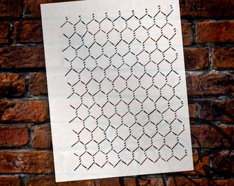 "Chicken Wire"" Stencil -8 1/2"" x 11""- by StudioR12 - STCL146"