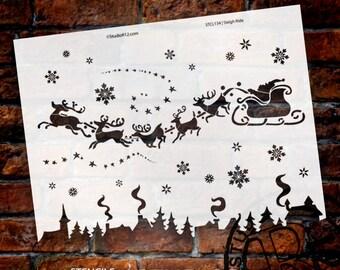 Sleigh Ride Stencil - Select Size - SKU:STCL134