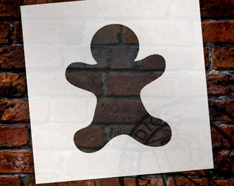 Christmas Shape Stencil - Gingerbread Man - Select Size - STCL1545 - by StudioR12