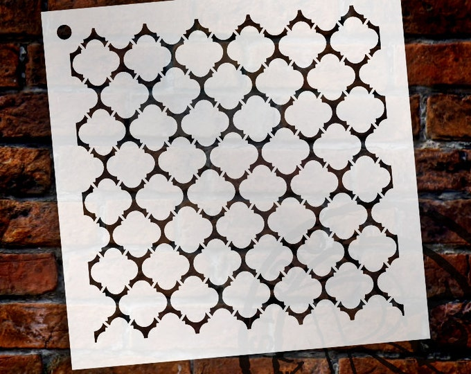 Featured listing image: Quatrefoil Pattern Stencil - Select Size - STCL1028 - by StudioR12
