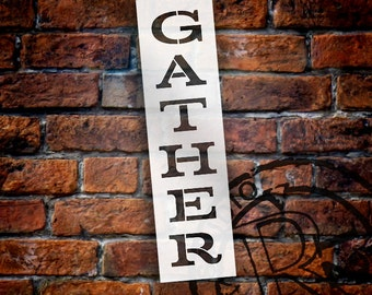 Gather - Old Fashioned Serif - Vertical - Select Size - STCL1815 - by StudioR12