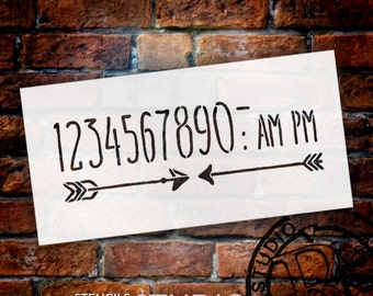 Wedding Sign Stencil - Numeral & Embellishments - Skinny Hand - Select Size- STCL1625 - by StudioR12