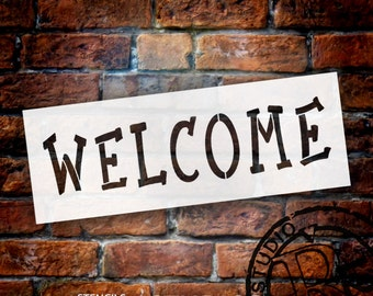 """Welcome Word Stencil - Whimsical Winter - 11"""" x 4"""" - STCL1033_1 - by StudioR12"""