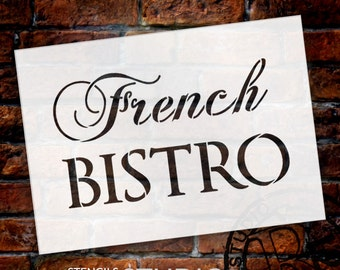French Bistro - Word Stencil - Select Size - STCL1475 - by StudioR12
