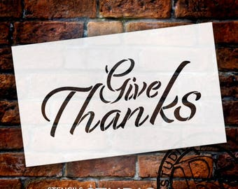 Give Thanks - Festive - Word Stencil - Select Size - STCL2103 - by StudioR12