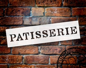 Patisserie Word Stencil - Classic Rough - Select Size - STCL913 - by StudioR12