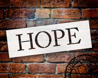 """Hope - Word Stencil - Traditional - 6"""" X 2"""" - STCL774_2 - by StudioR12"""