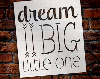 Dream Big Little One Word and Art Stencil - Select Size - STCL1464 - by StudioR12