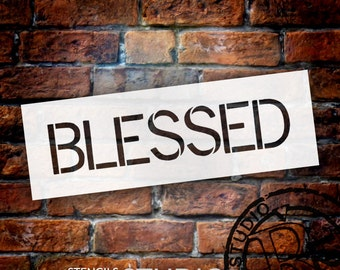 Blessed - Simple Sans - Word Stencil - Select Size - STCL1348 - by StudioR12
