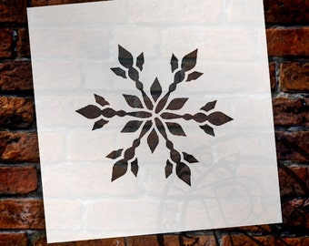 Snowflake Stencil - by StudioR12 - Christmas, ART, Holida, Painting, Window, Mixed Media, Air Brush, Chalk,  Large - SELECT SIZE - STCL1571