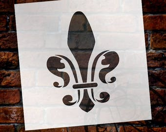 Royal Fleur De Lis Art Stencil - Select Size - STCL921 by StudioR12
