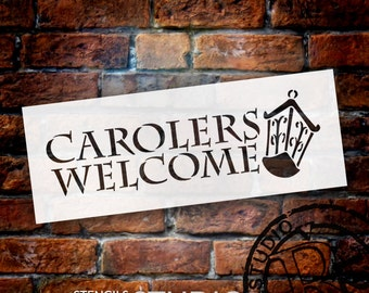 Carolers Welcome - Christmas Stencil - Select Size - STCL1351 - by StudioR12