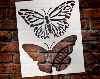 "Monarch Butterfly Top View Layered Stencil - 6"" Butterflies - STCL1426 - by StudioR12"