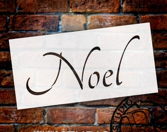 Noel - Graceful - Word Art Stencil - Select Size - STCL1391 - by StudioR12