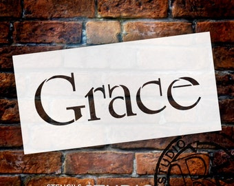 Grace - Elegant Traditional - Word Stencil - Select Size - STCL1359 - by StudioR12