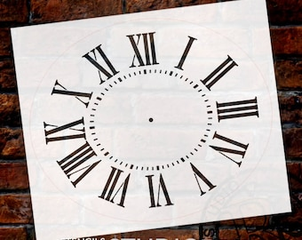 Oval Clock Stencil w/ Roman Numerals - For Painting Wood Clocks DIY  Painting Vintage Country Farmhouse Home Decor for Walls   - SELECT SIZE