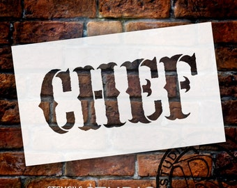 Chef - Vintage Carnival - Word Stencil - Select Size - STCL1337 - by StudioR12