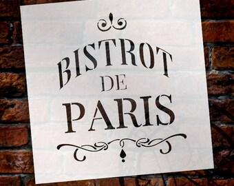 Bistrot de Paris Word Art Stencil - Select Size - STCL890 - StudioR12