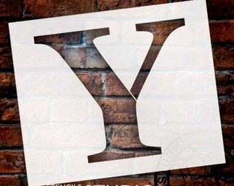 Y -Monogram Letter Stencil - Select Size - STCL1738 - by StudioR12