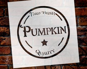 Farm Fresh Pumpkin - Fancy - Word Art Stencil - Select Size - STCL2105 - by StudioR12