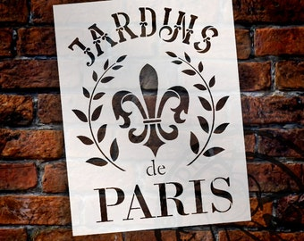 Paris Gardens French Stencil - Select Size - STCL1415 - by StudioR12