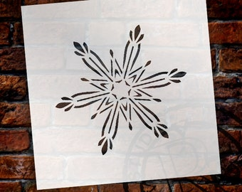 Christmas Shapes Stencil - Adamant Snowflake - Select Size - STCL1567 - by StudioR12