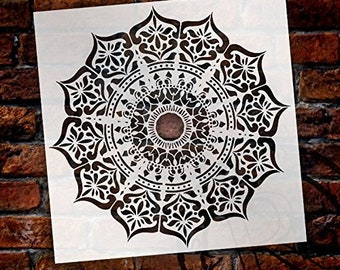 Mandala - India Stencil by StudioR12 | Reusable Mylar Template | Use to Paint Wood Signs - Pallets - Pillows - Wall Art - Floor Tile -...