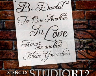 Be Devoted To One Another - Fancy Script - Word Stencil - Select Size - STCL1863 - by StudioR12