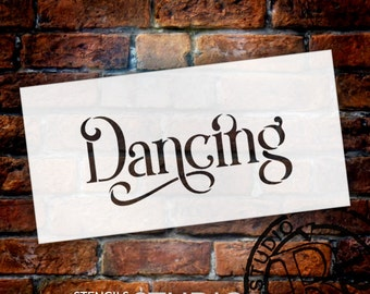 Wedding Sign Stencil - Dancing - Elegant Traditional - Select Size- STCL1745 - by StudioR12