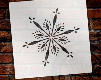 Delicate Snowflake Stencil by StudioR12 - Reusable, Christmas, Holiday, Painting, Journaling, Windows, Mixed Media  -SELECT SIZE- STCL1568