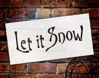 "Let It Snow Art Stencil - 8"" X 4"" - STCL527_1 - by StudioR12"