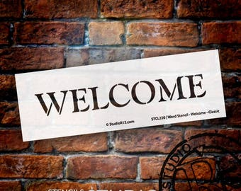 Welcome Classic-Word Stencil - Select Size - STCL220 by StudioR12
