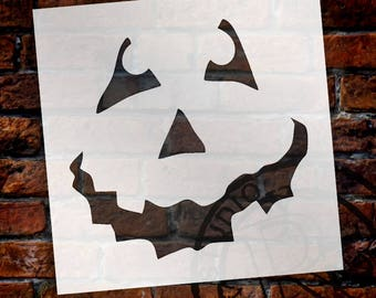Halloween - Pumpkin Face Art Stencil - Select Size - STCL761 - by StudioR12