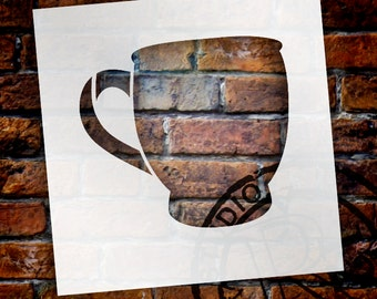 Coffee Mug Art Stencil - Select Size- SKU:STCL833