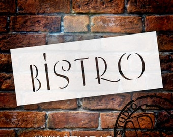 Bistro - Thin - Word Stencil - Select Size - STCL1317 - by StudioR12