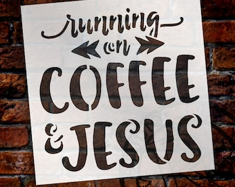 Running On Coffee And Jesus - Select Size - STCL1523 - by StudioR12
