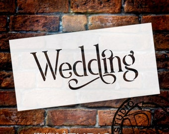 Wedding Sign Stencil - Wedding - Elegant Traditional - Select Size- STCL1663 - by StudioR12