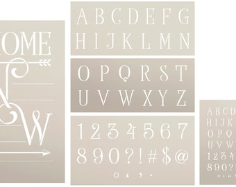 DIY Home Coordinates Stencil Set by StudioR12 Reusable Mylar Templates | Use to Paint Wood Signs - Front Porch - New Home - DIY Home Decor
