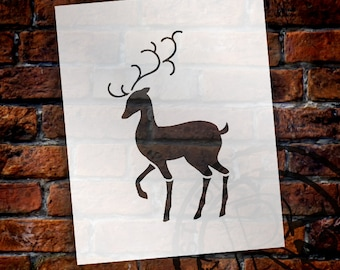 Christmas Shapes Stencil - Elegant Reindeer - Select Size - STCL1548 - by StudioR12