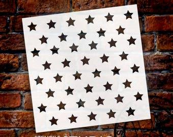 "1/2"" Stars Pattern Stencil - Select Size - STCL618 - by StudioR12"