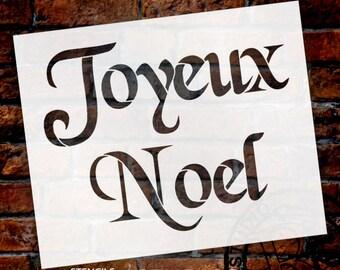 "Joyeux Noel - Word Stencil - 11"" X 9"" -SKU:STCL499"