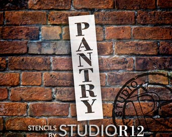 Pantry - Farmhouse Serif - Vertical - Word Stencil - Select Size - STCL1956 - by StudioR12