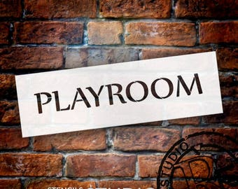Playroom - Word Stencil - Select Size - STCL2074 - by StudioR12