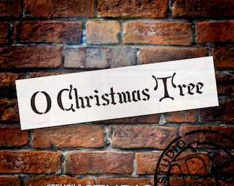 O Christmas Tree - Noble - Word Art Stencil - Select Size - STCL1392 - by StudioR12