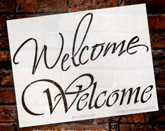 Words of Welcome Stencil - Select Size - STCL171 - by StudioR12